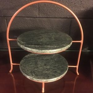 Other - Bronze and Marble 2 tier tray